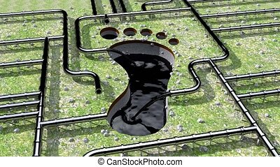 Carbon footprint oil pipeline pipe line foot print oil climate change