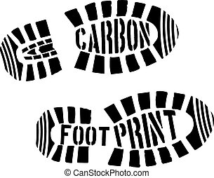 Carbon Footprint Shoeprints
