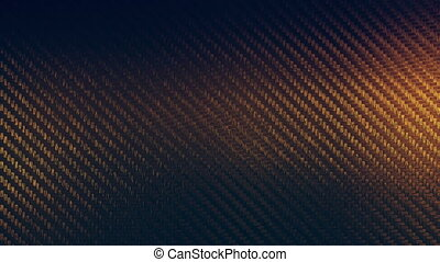 Carbon gold texture pattern background seamless motion loop. 3D animation