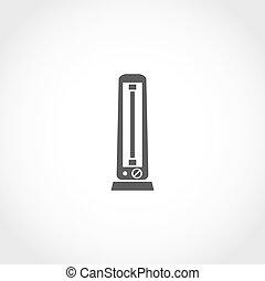 Carbon heater vector icon