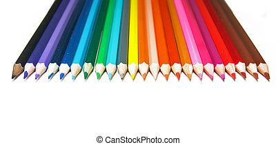 carboncillos, conjunto, fondo blanco