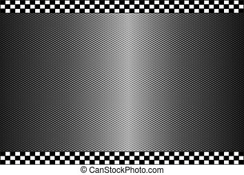 carbone, fibre, arrière-plan noir