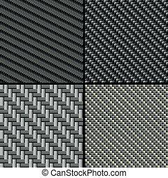 carbone, fibre, ensemble, seamless, motifs
