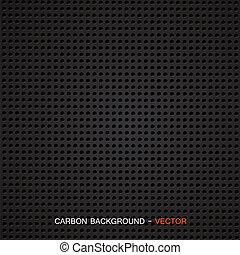 carbone, matériel, vecteur, -, fibre