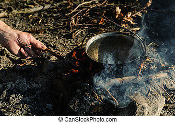 carbonella, bollitore, fire.