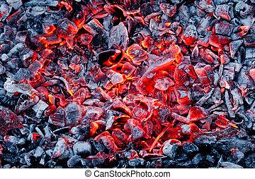 carbonella, caldo, fondo