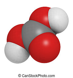 carbonic, οξύ , (h2co3), μόριο , χημικός , structure.
