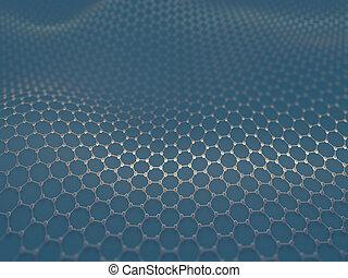 carbonio, esagonale, cristallizzato, sistema