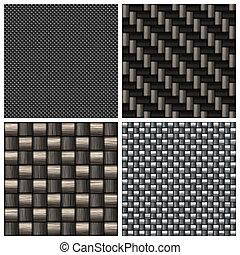carbonio, fibra, collezione