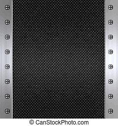 carbonio, fibra, e, acciaio, fondo