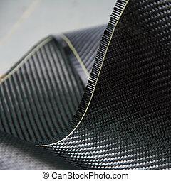 carbono, fibra, composto, material