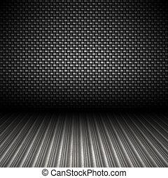 carbono, fibra, metal, fundo