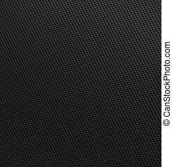 carbono, fibra, tecido, firmemente