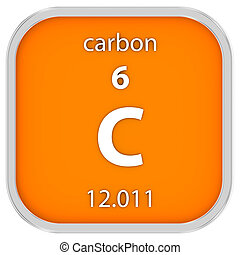 carbono, material, sinal