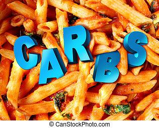 Carbs Carbohydrates - Carbs carbohydrates nutrition concept ...