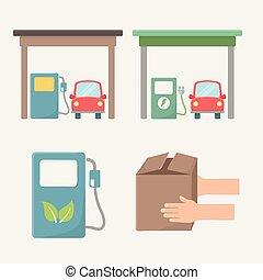 carburant, bio, conception, naturel