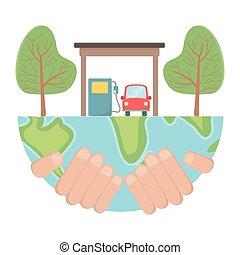 carburant, bio, conception, naturel, voiture