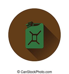 carburant, boîte métallique, icône