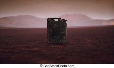carburant, désert, vieux, rouillé, boîte métallique