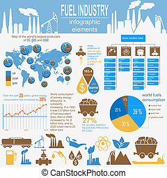 carburant, industrie, infographic