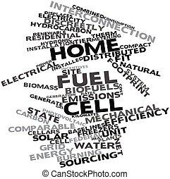 carburant, maison, cellule