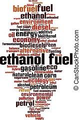 carburant, mot, éthanol, nuage