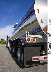 carburant, route, pétrolier, ou, liquide