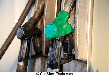 carburant, station., pompes, service