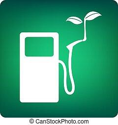carburant, vert