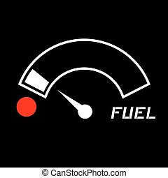 carburante, basso, icona