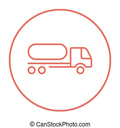 carburante, linea, camion, icon.