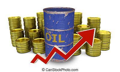 carburante, prezzo, salita, su