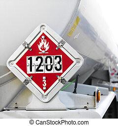 carburante, segno., infiammabile