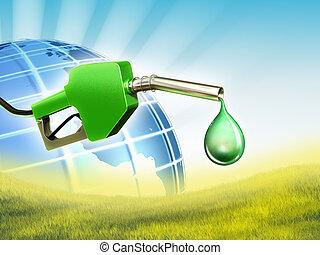 carburante, verde