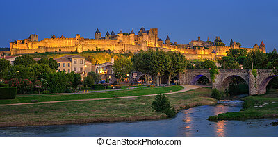Carcassonne medieval Old Town, Languedoc, France