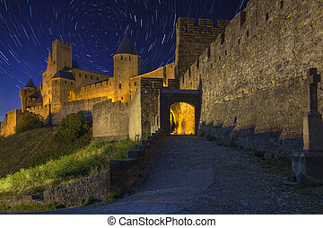 Carcassonne - Star Trails - France