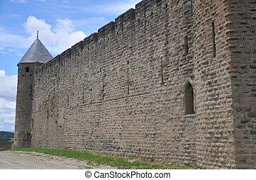 Carcassonne Town Wall - This is part of the middle castle ...