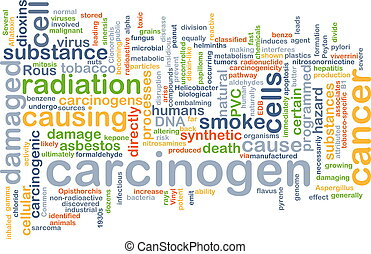 carcinogène, fond, concept