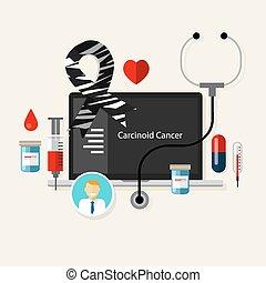carcinoid cancer medical zebra ribbon treatment health disease