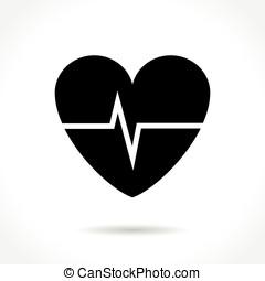 cardíaco, frecuencia, icono