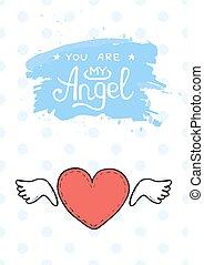 card., ולנטיינים, רקע., לבבות, יום, שמח