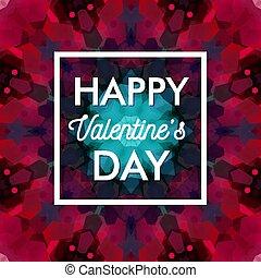 card., カラフルである, バレンタイン, バックグラウンド。, レトロ, 日, モザイク