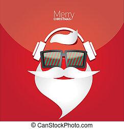 card., ポスター, クリスマス, 情報通, パーティー, ∥あるいは∥