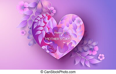 card., 开心, greating, 妈妈, 天, 红, 紫色