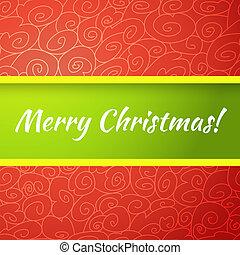card., 挨拶, 明るい, ベクトル, 陽気, 優秀である, クリスマス