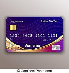 card., 現実的, シンボル, お金, クレジット, ベクトル, 支払い