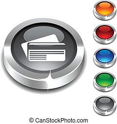. Card 3d button set. Vector illustration.