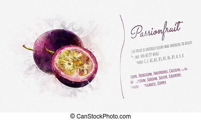 Card about the energy value of Passionfruit - A finished...