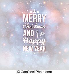 card., allegro, anno, nuovo, natale, felice