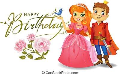 card., augurio, compleanno, principe, principessa, felice
